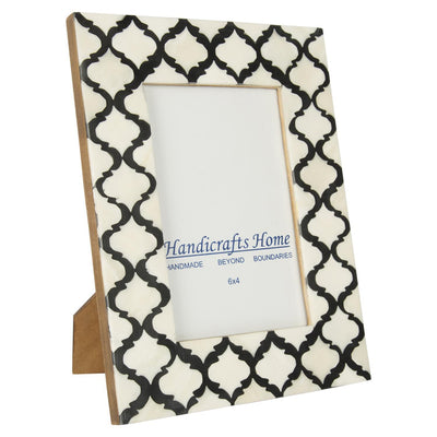 4x6'' Picture Moroccan Pattern Photo Frames - Black
