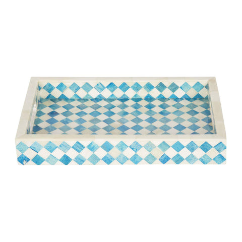 12x8 Turquoise Decorative Tray Breakfast Coffee Table Top Serving Tray