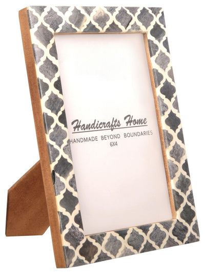 4x6 Picture Frame Moroccan Pattern Photo Frames - Grey