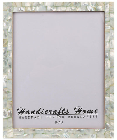 8x10 Photo Frames Mother of Pearl Picture Frame - Green
