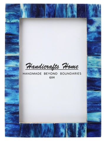 4x6 Photo Frames Handmade Chic Picture Frame - Blue