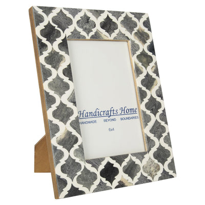 4x6'' Picture Moroccan Pattern Photo Frames - Grey