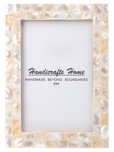 4x6 Photo Frames Handmade Chic Picture Frame - Pearl
