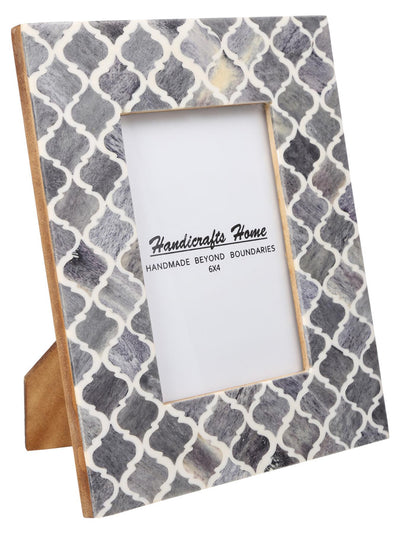 4x6 Photo Frames Moroccan Pattern Picture Frames - Grey