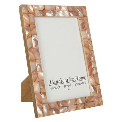 4x6 Photo Frames Mother of Pearl Picture Frame - Pink
