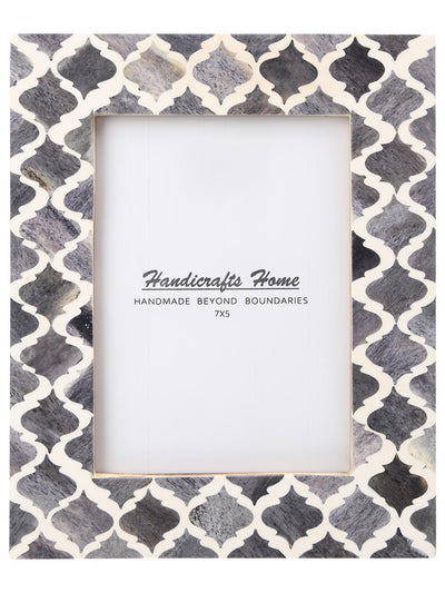 5x7 Photo Frames Moroccan Pattern Picture Frames - Grey