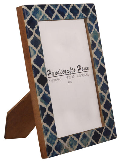 4x6 Picture Frame Moroccan Pattern Photo Frames - Blue