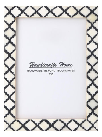 5x7 Picture Frame Moroccan Pattern Photo Frames - Black