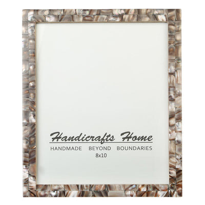 8x10 Photo Frames Mother of Pearl Picture Frame - Grey