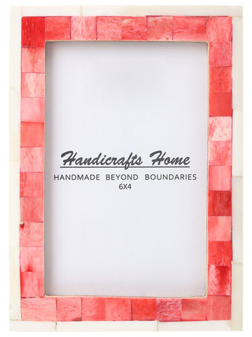 4x6 Picture Frame Mosaic Wall Decor Gift Photo Frames - Red