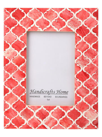 4x6 Photo Frames Moroccan Pattern Picture Frames - Red