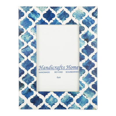 4x6'' Picture Moroccan Pattern Photo Frames - Blue