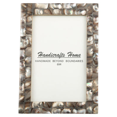 4x6 Photo Frames Mother of Pearl Picture Frame - Grey