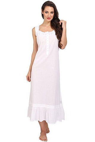 Victorian Style Nightgown Long Vintage Nightdress White