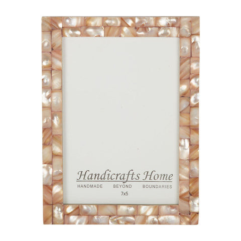 5x7 Photo Frames Mother of Pearl Picture Frame - Pink