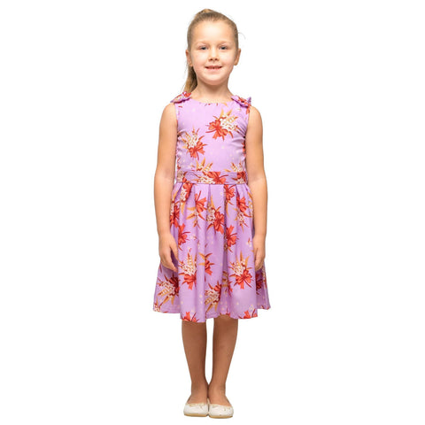 Girls Kids Vintage Style Shoulder Bow Dresses sizes from Butterfly Purple Age 3 – 12 Years
