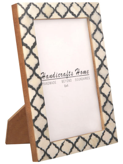 4x6 Picture Frame Moroccan Pattern Photo Frames - Black