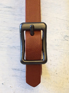 Long Leather Belt Shawl Clasp