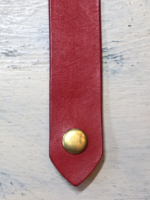 Leather Shawl Clasp with Snap
