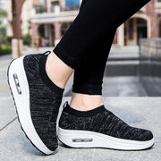 128623 Women's breathable flying woven fashion sneakers