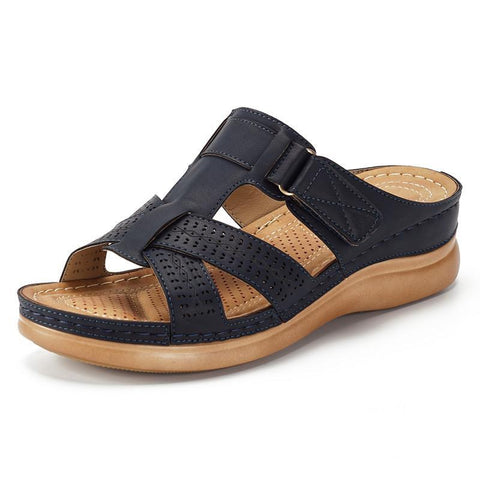 129739 Frauen Sommer Open Toe Hook Loop Sandalen