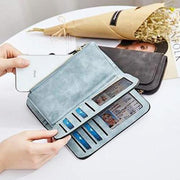 133227 PU Leather Purse Women's Soft Leather Long Wallet Credit Card Clutch Purse