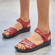 Frauen Casual Peep Toe Magic Tape Hochwertige Sandalen