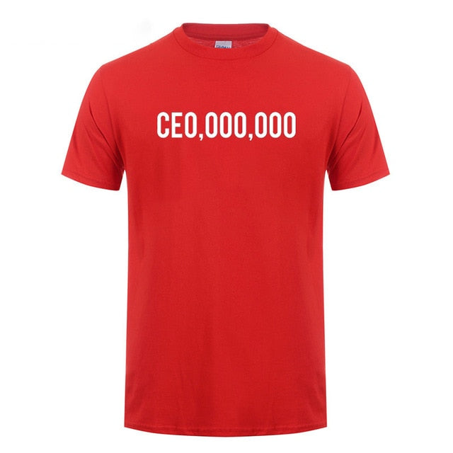 CE0,000,000 Entrepreneur Short Sleeve Cotton T-Shirt