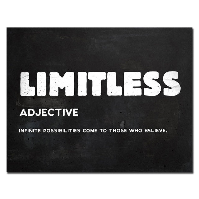 Limitless Inspirational Quote on Canvas