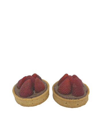 Les Nôtres Chocolate Strawberry Tarts x 2