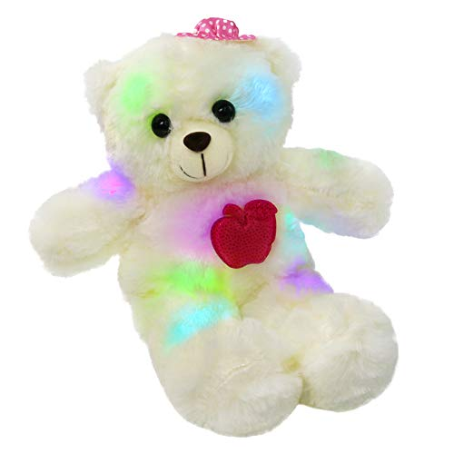 Bstaofy LED Teddy Bear Glow Stuffed Animal Colorful Light Up Plush Toy Gift for Girlfriend Kids on Birthday Christmas Valentine's Day,15-Inch (Pink)