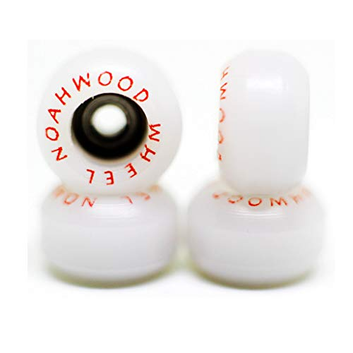 NOAHWOOD Fingerboards PRO Wheels(PRO Bearing 4Pcs/Set) (White, II)