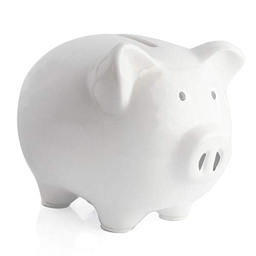 KOHIENWO Piggy Bank,Child to Cherish Ceramic Pig Money Piggy Banks for Boys Girls Kids Blue