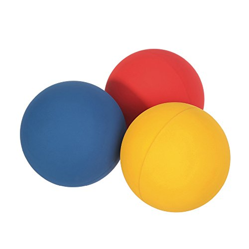 "JBM Racquetball Squash 5.5cm / 2.17"" Rubber 1 Red 1 Blue 1 Orange Balls in a Net 65-70% Rebound Rate Highly Visible for Racquetball Game Practice Training"