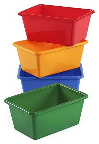 Humble Crew, Primary Kids' Small Storage Bins, Colors Set of 4, 4