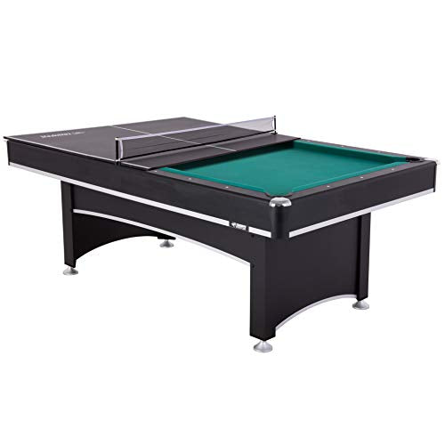 Triumph Phoenix 7芒聙聶 Billiard Table with Table Tennis Conversion Top for a Game of Pool or an Action-Packed Table Tennis Match