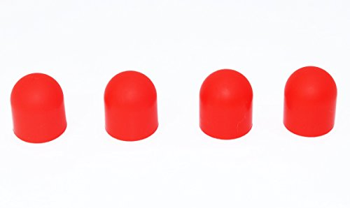 Anbee 4pcs Silicone Motor Cover Cap Protector for DJI Spark and Mavic Air Drone (Red)