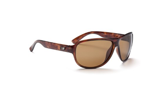 New Balance Sun NB 309-1 Sunglasses, Brown Tortoise, Polarized Brown