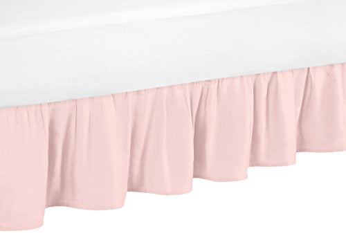 Sweet Jojo Designs Blush Pink Twin Bed Skirt for Girls Amelia Colleciton Childrens Bedding Sets