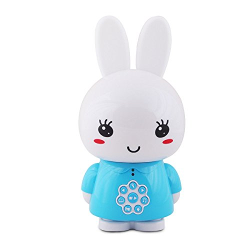 alilo Honey Bunny 8GB Baby MP3 Player Sleep Soother for Toddler Music Toy with Voice Recorder/Story Song/White Sound (Blue)
