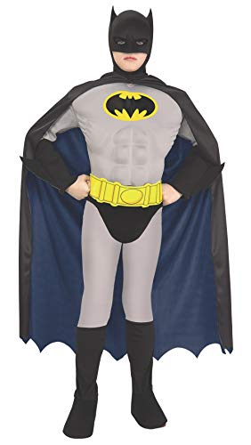 Rubie's Child's Super DC Heroes Deluxe Muscle Chest Batman Costume, Toddler