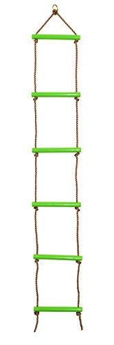 comingfit Sturdy Indoor/Outdoor Rope Climbing Ladder for Kids(Green)