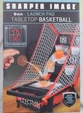 Launch pad Tabletop Basketball with electronic display with digital scorekeeper and countdown timer