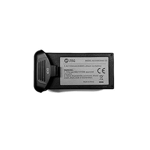 DEERC Rechargable Li-po Battery 1 PC 7.4V 1200mah for Drone HS120D