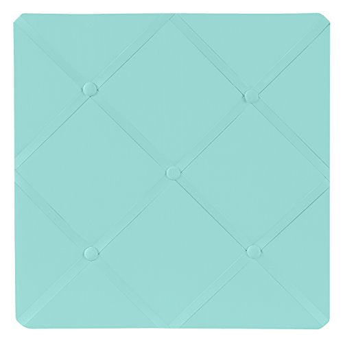 Turquoise Blue Fabric Memory/Memo Photo Bulletin Board by Sweet Jojo Designs