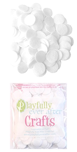 Playfully Ever After 1 Inch White 100pc Felt Circle Stickers