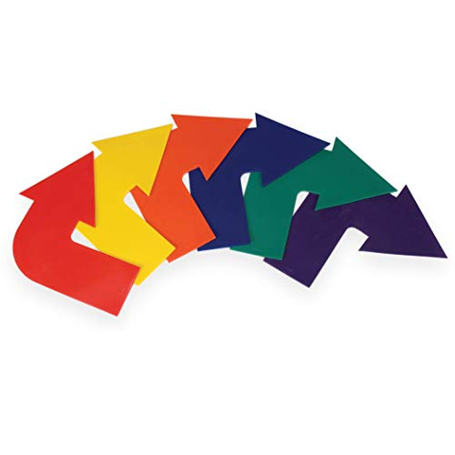 American Educational Products AEPYTB086 Curved Arrow Markers, Assorted Colors, Set of 6