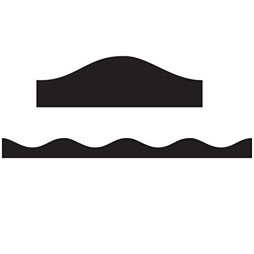 ASHLEY PRODUCTIONS Magnetic Scallop Border, Solid Black, 12'
