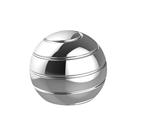 CaLeQi Desktop Ball Transfer Gyro Aluminum Alloy Kinetic Desk Toy Stress Relief Office Executive Gadgets Metal Ball Full Disassembly Rotary Decompression Toy-Small