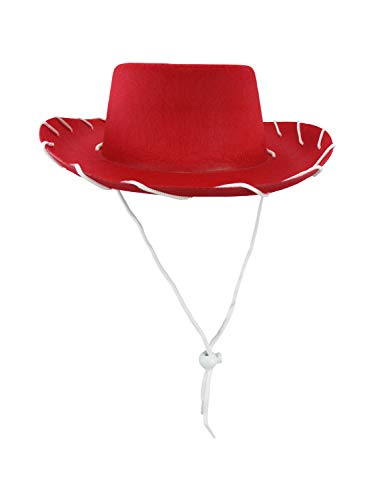 Nicky Bigs Novelties Child Western 1950's Style Kids Cowboy Ranch Hat, Red, One Size
